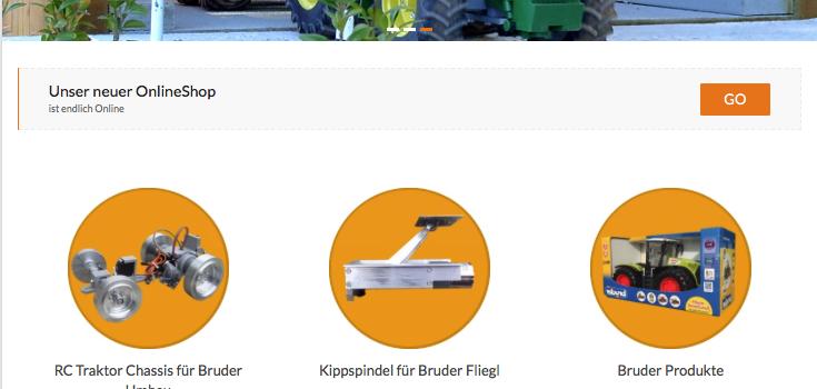 RC Traktor Schweiz – GoLive New OnlineShop